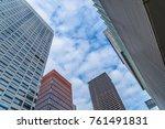 bottom view of modern... | Shutterstock . vector #761491831