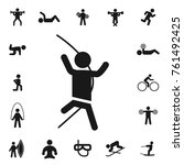 climbing. fitness collection ... | Shutterstock .eps vector #761492425