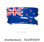 flag of new zealand. vector... | Shutterstock .eps vector #761494459