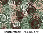 seamless 5 color pattern.... | Shutterstock .eps vector #761503579
