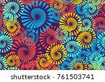 seamless 5 color pattern.... | Shutterstock .eps vector #761503741