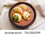 anda curry or egg curry  ... | Shutterstock . vector #761504299
