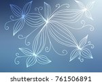 light blue vector indian curved ...