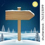 direction wood board sign on... | Shutterstock .eps vector #761515099