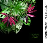 vector botanical banner with... | Shutterstock .eps vector #761518087