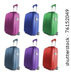 different colored suitcases... | Shutterstock . vector #76152049
