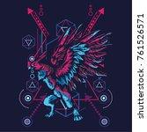 eagle mythology in sacred... | Shutterstock .eps vector #761526571