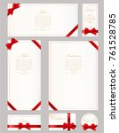 set gift card  certificate and... | Shutterstock .eps vector #761528785