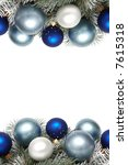 white and blue bulbs covered... | Shutterstock . vector #7615318