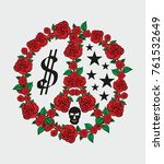 Red Rose Peace Graphic Design...