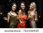 celebration  friends  new year  ... | Shutterstock . vector #761534935