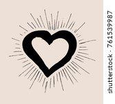 heart grunge hand drawn | Shutterstock .eps vector #761539987