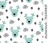 seamless scandinavian pattern.... | Shutterstock .eps vector #761544835