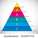 6 steps pyramid chart diagram... | Shutterstock .eps vector #761547715