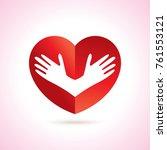 heart care logo  creative idea... | Shutterstock .eps vector #761553121