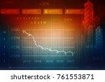 2d rendering stock market...   Shutterstock . vector #761553871