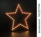 multi pattern led star. festive ... | Shutterstock . vector #761557744