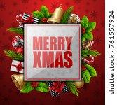 christmas card background | Shutterstock . vector #761557924