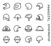 helmets and masks icons... | Shutterstock .eps vector #761559994