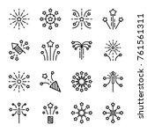 firework line icon. petard ... | Shutterstock .eps vector #761561311