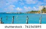 isla mujeres island caribbean... | Shutterstock . vector #761565895