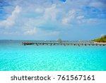 isla mujeres island caribbean...   Shutterstock . vector #761567161
