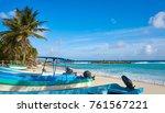 chen rio beach cozumel island... | Shutterstock . vector #761567221