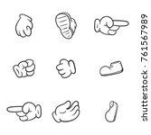 cartoon hand  shoes vector... | Shutterstock .eps vector #761567989