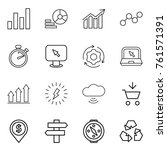thin line icon set   graph ... | Shutterstock .eps vector #761571391