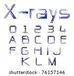 x rays fonts | Shutterstock . vector #76157146