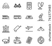 thin line icon set   lunar... | Shutterstock .eps vector #761573485