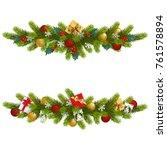 vector christmas fir decoration ... | Shutterstock .eps vector #761578894