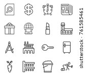 thin line icon set   search... | Shutterstock .eps vector #761585461