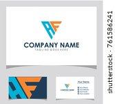 af initial logo vector | Shutterstock .eps vector #761586241