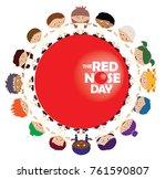 Vector Of Red Nose Day Campaig...