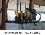 vhf radio marine portable | Shutterstock . vector #761592859