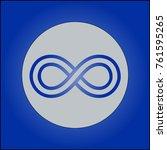 stilization eternity symbol  | Shutterstock .eps vector #761595265