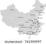 china country map with city... | Shutterstock .eps vector #761595997