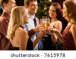 group of  people  raising up... | Shutterstock . vector #7615978