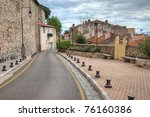 old town street toad with... | Shutterstock . vector #76160386