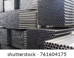 industrial background. close up ... | Shutterstock . vector #761604175