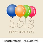 happy new year 2018. | Shutterstock . vector #761606791
