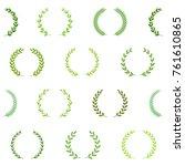 green award wreaths. seamless... | Shutterstock .eps vector #761610865