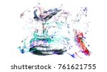 brush stroke and texture. smear ...   Shutterstock . vector #761621755