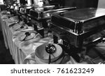black and white stainless cater ... | Shutterstock . vector #761623249