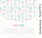 baby care concept with thin... | Shutterstock .eps vector #761627971