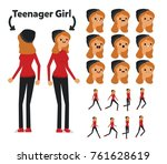 character is a teenager girl.... | Shutterstock .eps vector #761628619