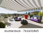 exteriors shots of a modern... | Shutterstock . vector #761631865