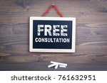free consultation. business... | Shutterstock . vector #761632951