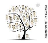 family tree  relatives  people... | Shutterstock .eps vector #76163503
